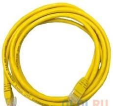 Патч-корд UTP 5e категории 1м желтый CCA PVC