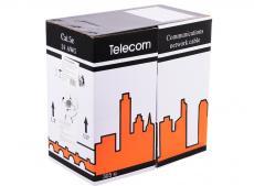 Сетевой кабель бухта 305м UTP 5e Telecom Pro 4 пары, многожильный 24AWG/0.51мм, омедненный