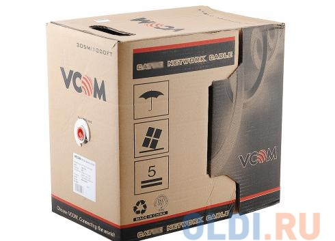 Сетевой кабель бухта 305м UTP 6 VCOM VNC1120 4 пары