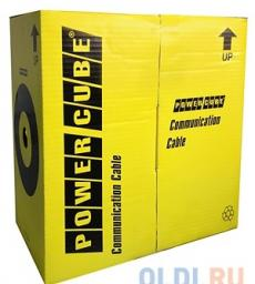 Кабель UTP Power Cube (PC-UPC-6004E-SO) кат.6 МЕДЬ однож. 4х2х0.56 мм, 305 м pullbox, серый (FLUKE TEST)