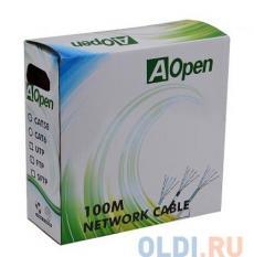 Сетевой кабель бухта 100м UTP 5e Aopen ANC5141 4 пары, одножильный 24AWG/0.51мм
