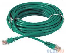 Сетевой кабель 10м UTP 5е, литой patch cord зеленый Aopen [ANP511_10M_G]