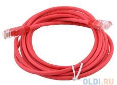 Сетевой кабель 10м UTP 5е, литой patch cord красный Aopen [ANP511_10M_R]