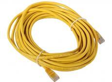 Сетевой кабель 10м UTP 5е, литой patch cord желтый Aopen [ANP511_10M_Y]