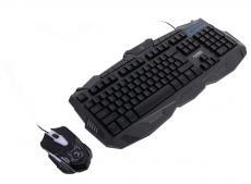 игровой комплект из проводной клавиатуры и мыши с подсветкой marvo km400 (km800)
