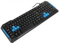 Клавиатура игровая SVEN Challenge 9500, чёрная, 104+10 клавиш, 8 дополнительных сменных клавиш