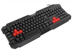 Клавиатура игровая SVEN Challenge 9700, чёрная, 104+9 клавиш, 8 дополнительных сменных клавиш
