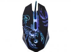 игровая проводная оптическая мышь marvo m316 - 6 кн, 7 цветов подсветки, dpi 800/1200/1600/2400