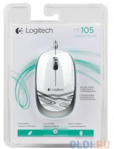 Мышь (910-003117) Logitech Mouse M105 White