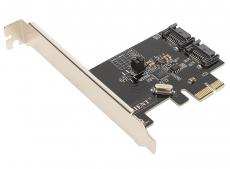Контроллер Orient A1061RAID, PCI-E v2.0 SATA 3.0 6 Gb/s, 2int port, RAID 0/1/SPAN, поддержка HDD до 6TB, ASM1061R chipset, oem