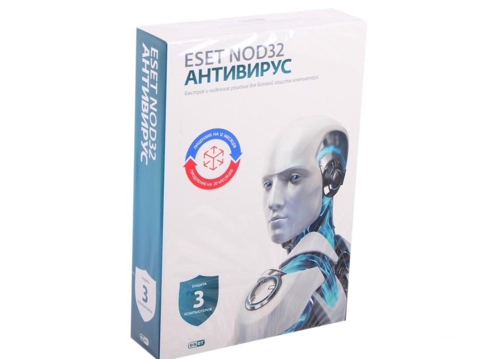 Антивирус ESET NOD32 Smart Security+ Bonus + универсальная лицензия на 1 год на 3ПК или продление на 20 месяцев (NOD32-ESS-1220(BOX)-1-1)