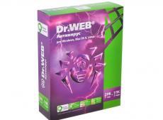 Антивирус Dr. Web   для Windows (BHW-A-12M-2-A3) в картонной упаковке, на 12 мес, на 2 Пк.