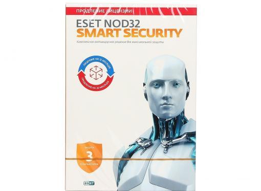 Коробка продления ESET NOD32 Smart Security - продление 20 месяцев или новая 1 год/3ПК (NOD32-ESS-2012RN(BOX)-1-1)