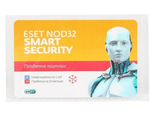 карта продления eset nod32 smart security - продление 20 месяцев или новая 1 год/3пк (nod32-ess-2012rn(card)-1-1)