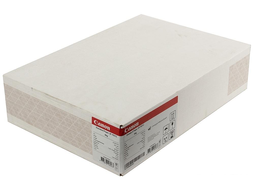 бумага для плоттеров canon std. paper 90gsm 432mmx50m 3 рулона