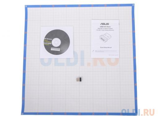 Беспроводная сетевая карта ASUS USB-N10 NANO Суперкомпактный Wi-Fi адаптер стандарта 802.11n