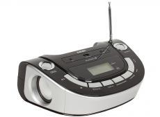 аудиомагнитола bbk bs07bt черный/серебро