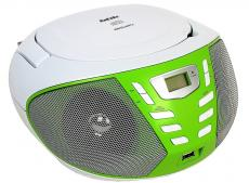 аудиомагнитола bbk bx193u белый/зеленый