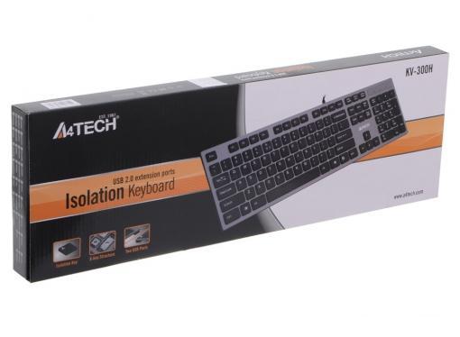 Клавиатура A4Tech KV-300H, USB (серый) X-Key, слим, компакт.
