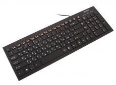 Клавиатура A4Tech  KX-100 USB B(Черный) 104кн, слим