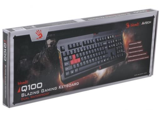 Клавиатура A4 Bloody Q100 черный USB Gamer