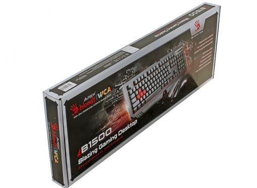 Клавиатура + мышь A4 Bloody Q1500 (Q110+Q9) черный USB Multimedia Gamer