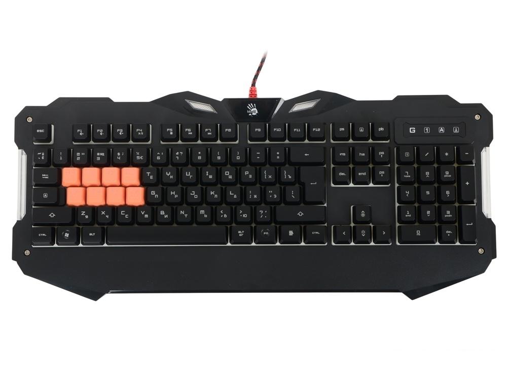 Клавиатура A4Tech Bloody B328 черная USB Multimedia Gamer LED