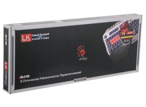 Клавиатура A4Tech Bloody B418 USB Multimedia Gamer LED