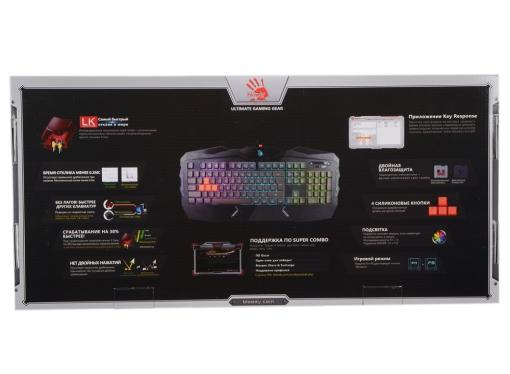 Клавиатура A4Tech Bloody B254 черный USB Multimedia Gamer LED