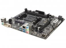 Материнская плата ASRock A320M-DGS (SAM4, AMD A320, 2*DDR4, PCI-E16x, DVI, SATAIII+RAID, M.2, GB Lan, USB3.0, mATX, Retail)