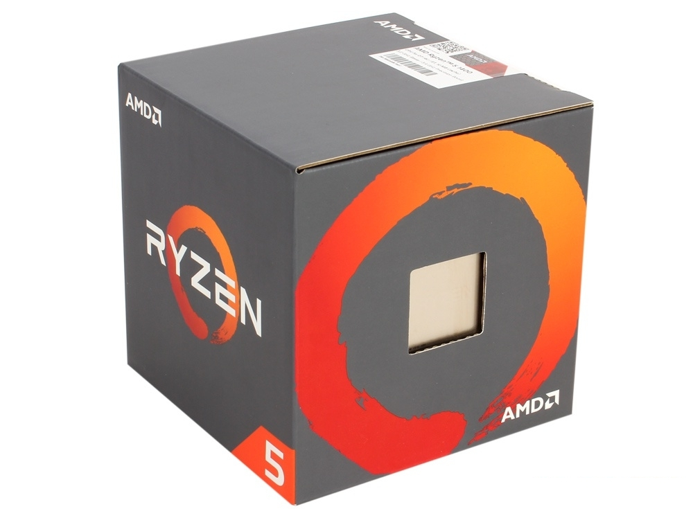 Процессор AMD Ryzen 5 1400 BOX 65W, 4C/8T, 3.4Gh(Max), 10MB(L2-2MB+L3-8MB), AM4 (YD1400BBAEBOX)