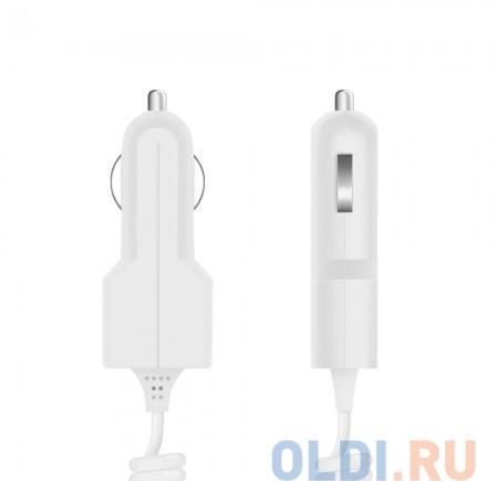 Автомобильное зарядное устройство Prime Line 2200 30-pin для Apple, 1A, белый