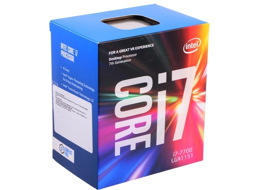 процессор intel® core™ i7-7700 box <tpd 65w, 4/8, base 3.60ghz - turbo 4.20ghz, 8mb, lga1151 (kaby lake)>