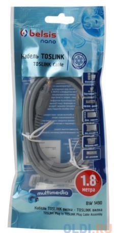 Оптоволоконный кабель Audio Belsis TOSLINK - TOSLINK, цифровое аудио, 1.8м. BW1490