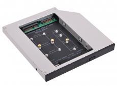 Адаптер оптибей Espada M2MS1295  (optibay, hdd caddy) mSATA/NGFF (M.2) SSD to miniSATA 9,5/12,7мм для подключения SSD mSATA/NGFF к ноутбуку вместо DVD