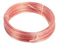 акустический кабель cablexpert cc-tc2x0,75-15m, прозрачный, 15 м, бухта