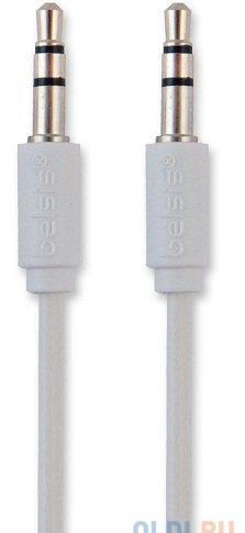 Кабель Belsis BL1028 (Jack 3,5 (3 pin) вилка - Jack 3,5 (3 pin) вилка, длина 1 м. белый)