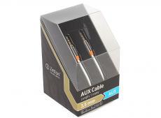 кабель aux zetton metal 3,5мм jack/jack металлический корпус белый (ztlsaux1bw)