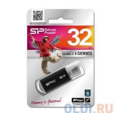 USB флешка Silicon Power Ultima II I-series Black 32GB (SP032GBUF2M01V1K)