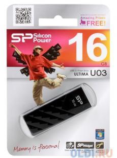 USB флешка Silicon Power Ultima U03 Black 16GB (SP016GBUF2U03V1K)