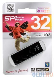 USB флешка Silicon Power Ultima U03 Black 32GB (SP032GBUF2U03V1K)