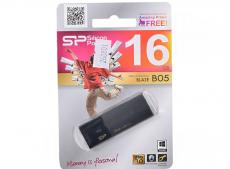 USB флешка Silicon Power Blaze B05 Black 16GB (SP016GBUF3B05V1K)