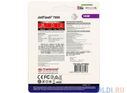 USB флешка Transcend 790K 16GB (TS16GJF790K)