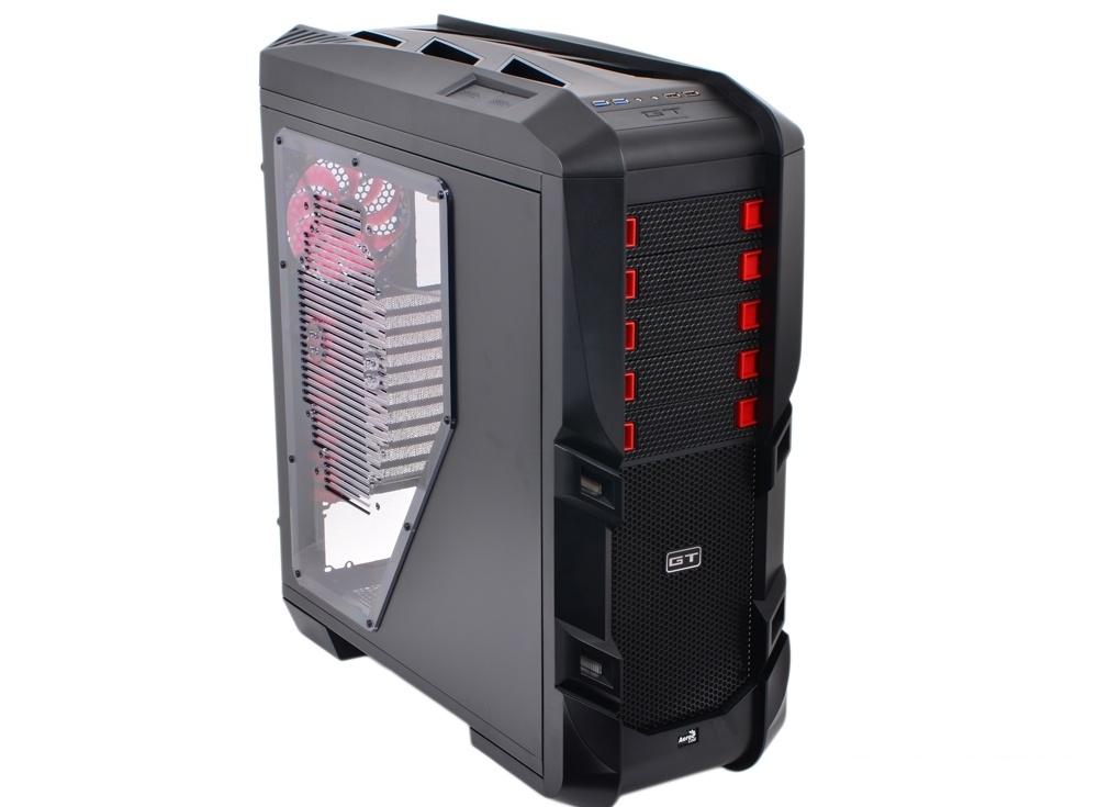 Корпус Aerocool GT-S Black Edition без БП, Full Tower, XL-ATX, сталь 1.2мм, USB 3.0, контроллер вентиляторов, вент-ры: 2x20см LED, 1x 14см