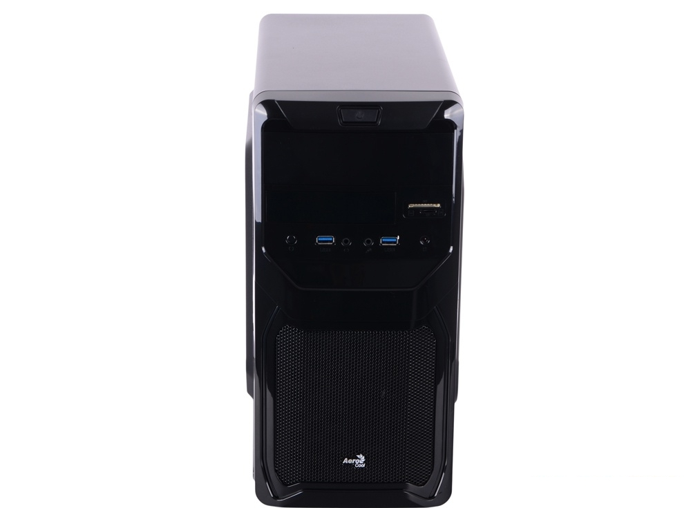 Корпус Aerocool Qs-183 Advance, mATX, 450Вт , 2x USB 3.0, картридер, съемный фильтр от пыли для БП.