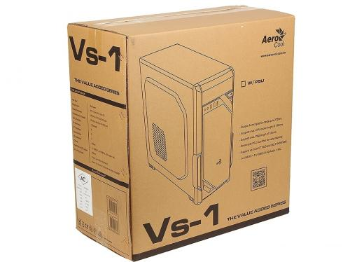 Корпус Aerocool Vs-1 , ATX, без БП, 2 x USB2.0 + 1 x USB3.0, в комплекте 1 x 120 мм вент-р .