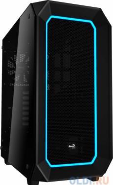 Корпус Aerocool P7-C0 Black , ATX, без БП, 2х USB 3.0, два окна, 10 цветов и 3 режима подсветки, сталь 0,7 мм