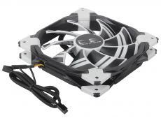 Вентилятор Aerocool DS 14см White (белая подсветка), 3+4 pin, 64.8 CFM, 1000 RPM, 14.2 dBA при 12V и 39.8 CFM, 700 RPM, 10.8 dBA при 7V