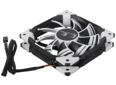 Вентилятор Aerocool DS 12см White (белая подсветка), 3+4 pin, 54.8 CFM, 1200 RPM, 15.8 dBA при 12V и 36.7 CFM, 800 RPM, 12.1 dBA при 7V
