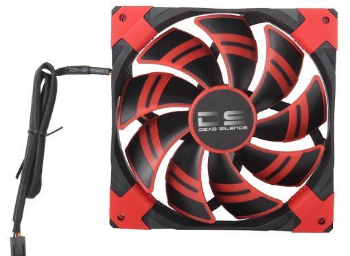Вентилятор Aerocool DS 14см Red (красная подсветка), 3+4 pin, 64.8 CFM, 1000 RPM, 14.2 dBA при 12V и 39.8 CFM, 700 RPM, 10.8 dBA при 7V